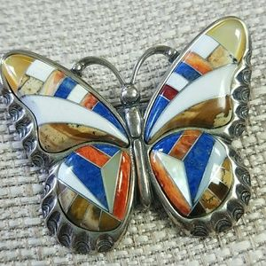 Carolyn Pollack Butterfly Pink Sterling Inlay